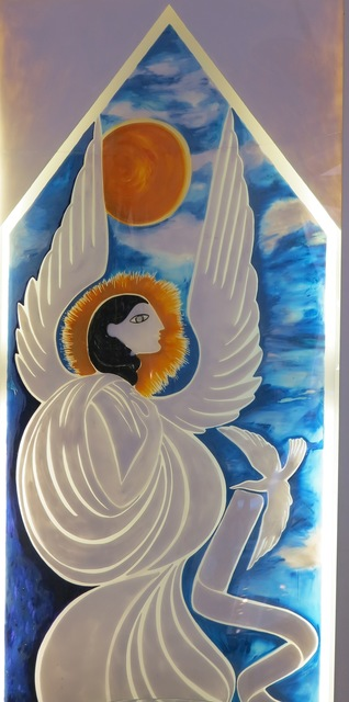 ", 'Lightbox Panel ""Angel"" for the store Shui-Hing in Singapore,' 1978, Galleria Rossella Colombari"