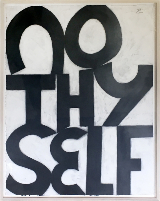 Allan Graham, 'No Thy Self', 2016, Drawing, Collage or other Work on Paper, Graphite on paper, William Shearburn Gallery