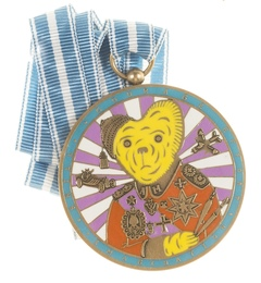 Teddy Bear Necklace Medal (Alan Measles)