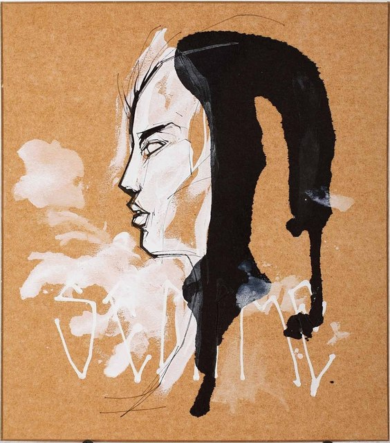 Titi Freak, 'Untitled 1', 2008, Painting, Spray Paint and Pencil on Paper, Jonathan LeVine Projects