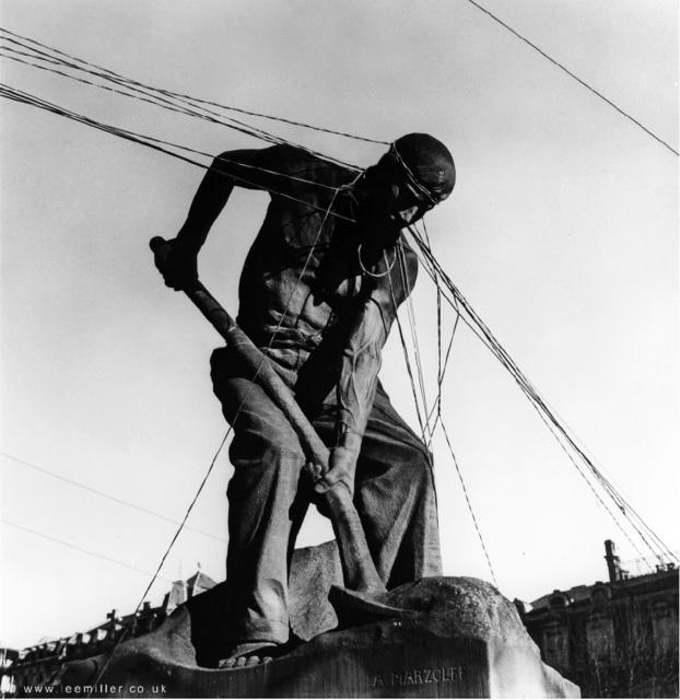 , 'Le Pelleteur [The Shoveler] by A. Marlzolff, Strasbourg, Alsace, France,' 1945, Lee Miller Archives