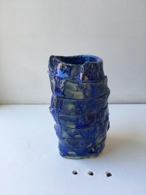 , 'Blue Fold Vase,' 2018, Etage Projects