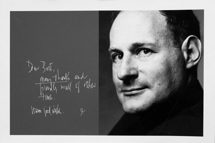 , 'Irving Penn and his note in Bert Stern's studio guest book,' 1960, Staley-Wise Gallery