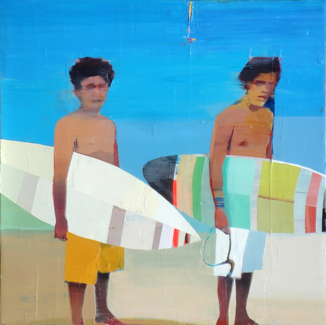 , 'Surfers on the Beach,' 2018, Sue Greenwood Fine Art