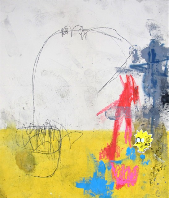 George Morton-Clark, 'Universal Yellow', 2019, Painting, Oil, arcylic, charcoal and spray on canvas, g.gallery