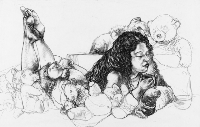 Diane Victor, 'Reclining Woman with Teddy Bears', Strauss & Co
