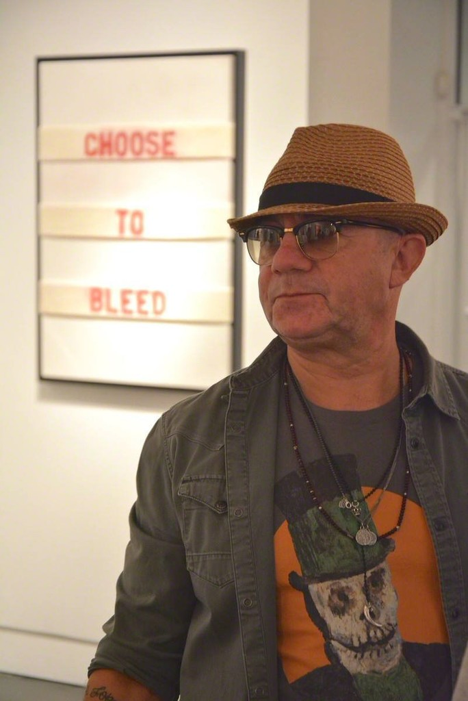 Bernie Taupin at the opening of Anarchaeology (an-ahr-kee-ol-uh-jee) on September 12, 2015