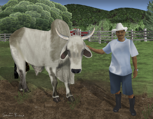 , 'Juan Tabin and His Bull,' 2015, Fountain House Gallery