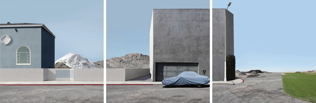 , 'Landscape with Covered Car (Triptych),' 2012, Robert Berman Gallery