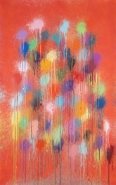 Ian Davenport, 'Red Crackle', 2019, Cristea Roberts Gallery
