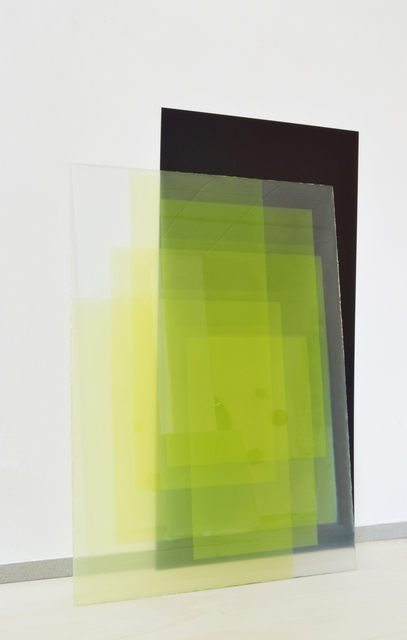 Dirk Salz, '#2179', 2016, Painting, Pigments, resin, glass, aluminum and acrylic, Diana Lowenstein Gallery