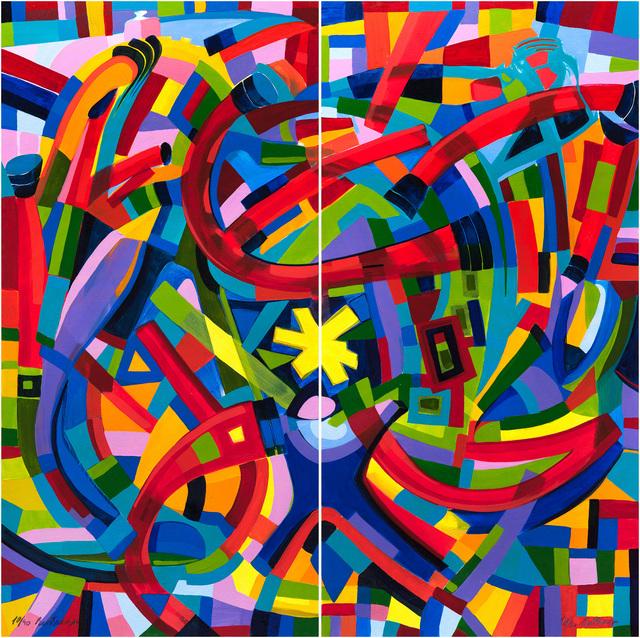 , 'Mamamobile Dyptichon,' 2014, Fils Fine Arts