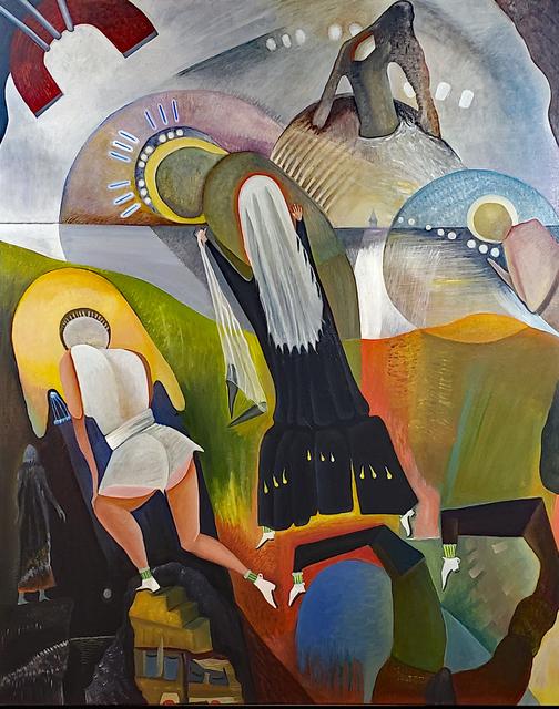 Robert Zurer, 'Feeling Gravity's Pull', 2019, Painting, Oil on canvas, InLiquid
