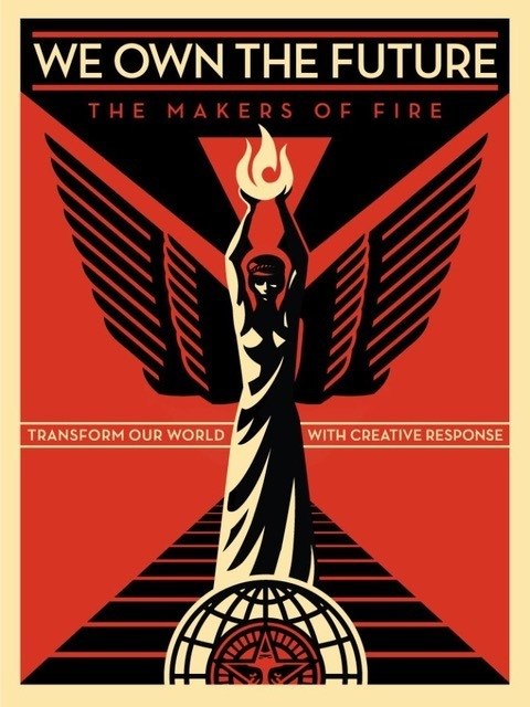 Shepard Fairey (OBEY), 'We Own The Future', 2013, Art for ACLU Benefit Auction