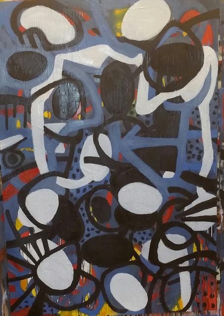 Danny Simmons, 'Got da bluz', 2018, Painting, Oil on paper, Rush Philanthropic Arts Foundation Benefit Auction