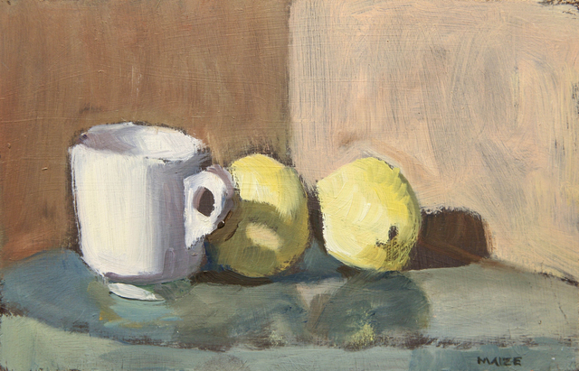 , 'Cup and Two Lemons,' ca. 2018, Hofheimer Gallery