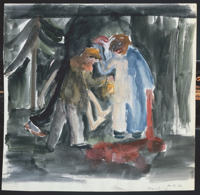 , 'Drei Mörder im Wald,' 1935, Galerie Krinzinger