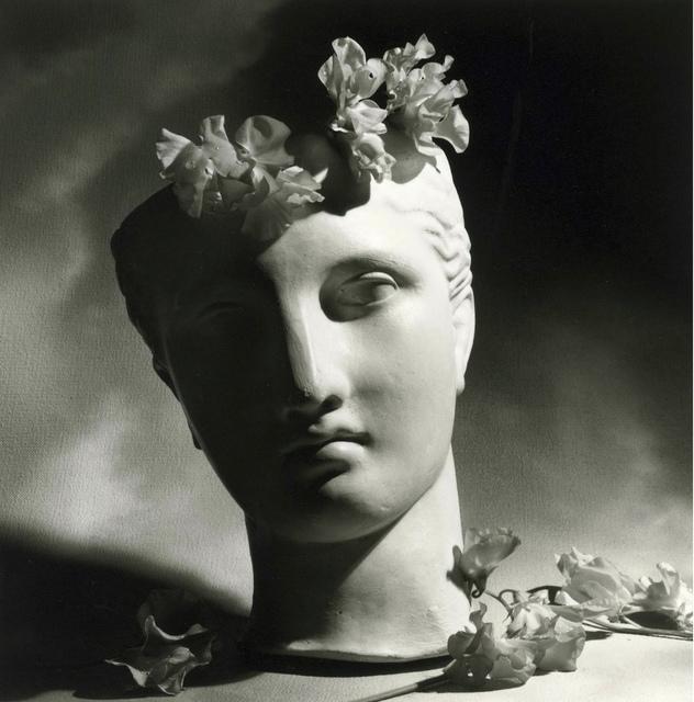 , 'Classical Head with Flowers,' 1988, Bernheimer Fine Art