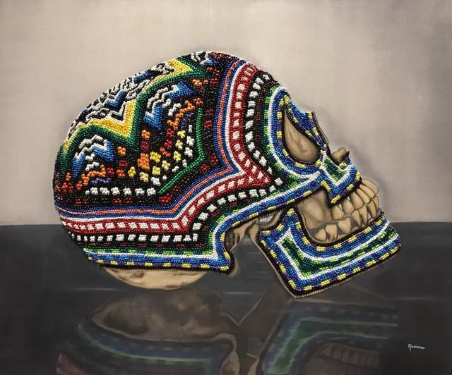 Mariana Flores Quijano, 'Maraica       TECNICA oleo texturizado sobre tela, texturized oil on canvas        DIMENSIONES 47 X 39 in', 2017, Aldo Castillo Gallery
