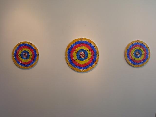 Jose-Ricardo Presman, 'I Plant - Gravity and Levity, installation view', 2012, Installation, Acrylic on round canvas, Amos Eno Gallery