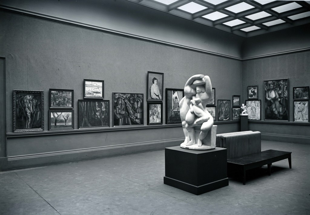 "The ""cubist"" gallery of the International Exhibition of Modern Art (the Armory Show) at the Art Institute of Chicago, 1913"