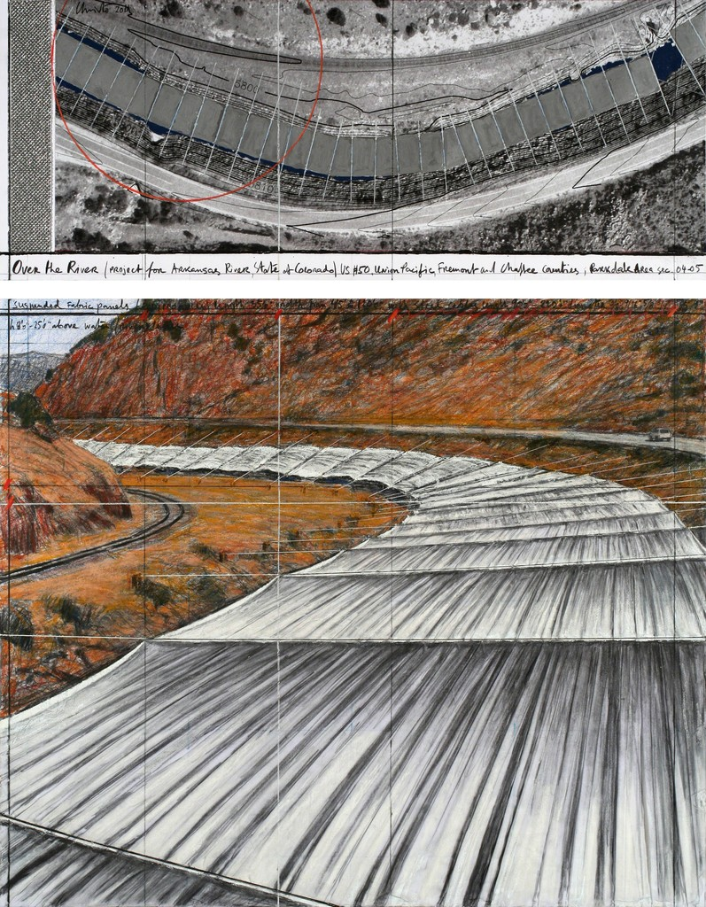 Christo, 'Over The River, Project for Arkansas River, State of Colorado #141,' 2011, Gallery Guy Pieters