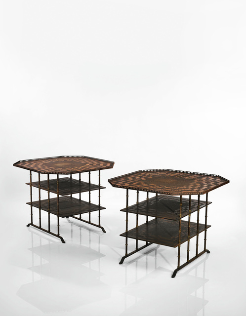 André Dubreuil, 'Pair of Octogonal Side Tables', circa 2003-2006, Design/Decorative Art, Patinated steel, copper, Sotheby's: Important Design