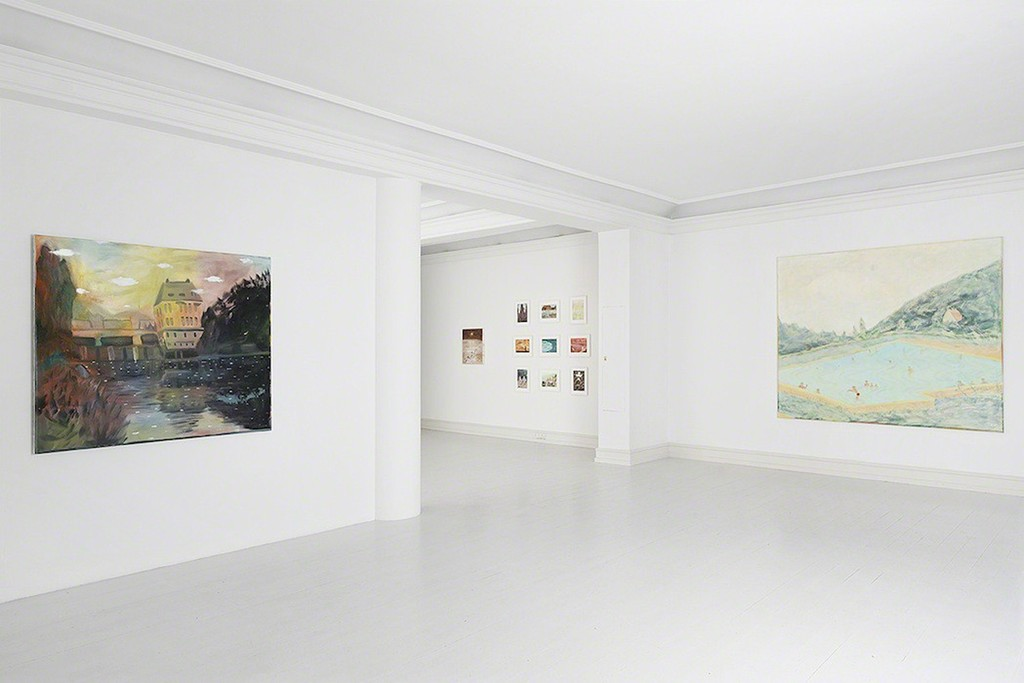 Tom Anholt - Rainbow Walk, install shot, Galerie Mikael Andersen, Copenhagen, 2014