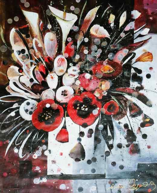 , 'Still life with flowers,' 2018, Vanda Art Gallery