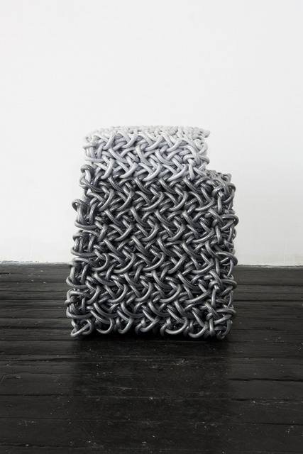 , 'Dark and Light Grey Stool,' 2009, Johnson Trading Gallery