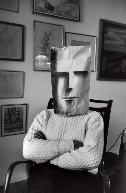 , 'Untitled. (from the Mask Series with Saul Steinberg). Photograph by Inge Morath © The Inge Morath Foundation/MAGNUM PHOTOS. Mask by Saul Steinberg © The Saul Steinberg Foundation/ARS, NY,' 1961, Magnum Photos