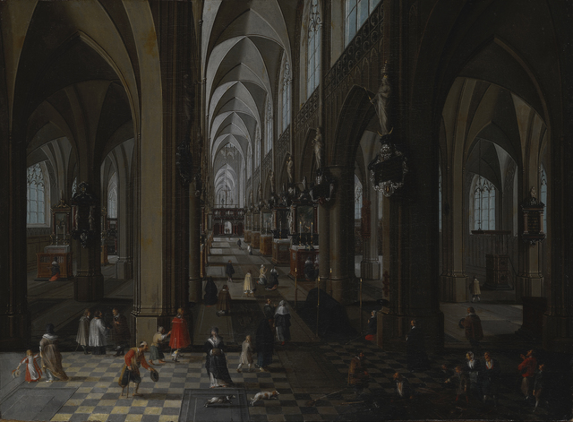 Peeter Neeffs, the elder, 'Interior of Antwerp Cathedral', 1651, Indianapolis Museum of Art at Newfields