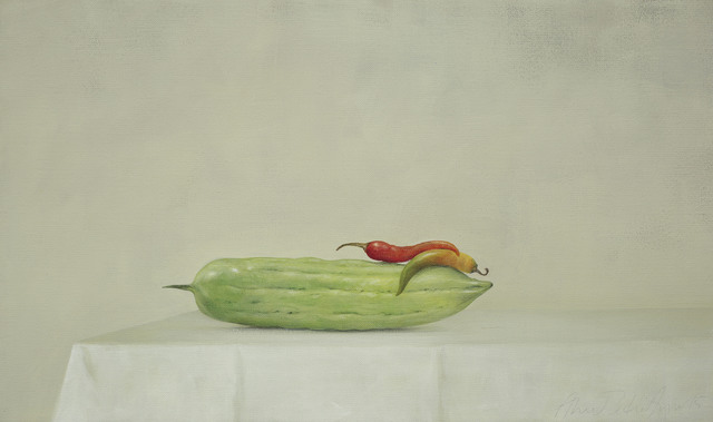, 'Bittergourd and Two Chilis,' 2015, Galerie Huit