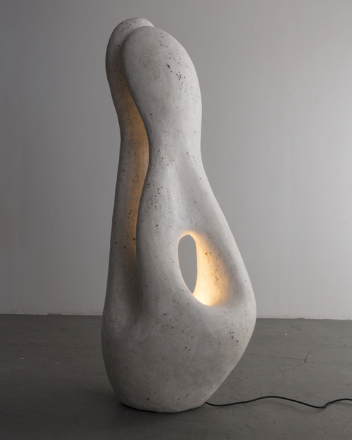 , 'Fertility Form floor lamp in naturally derived terrazzo, with copper hardware. ,' 2017, R & Company