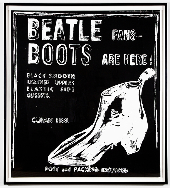 Andy Warhol, 'Beatle Boots (Negative)', 1986, Kohn Gallery