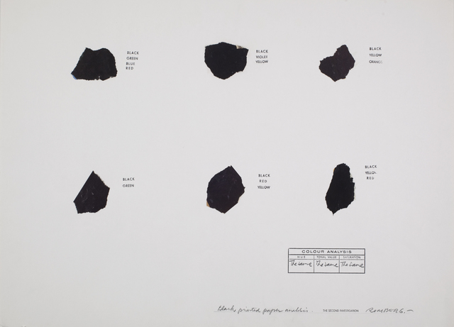 , 'Black Printed Paper Analysis,' ca. 1976, Henrique Faria Fine Art