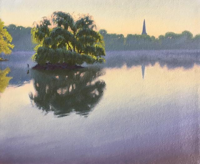 Ed Stitt, 'Willow on Jamaica Pond, Hazy Morning', 2019, Gallery NAGA