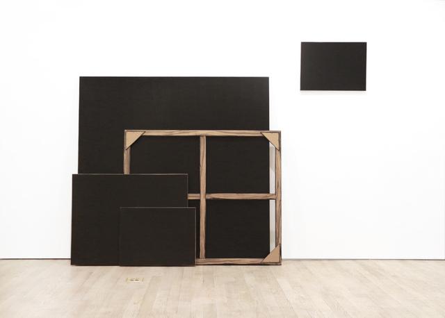 , 'Black Monochrome (Four Stacked with Stretcher),' 2017, Pierogi