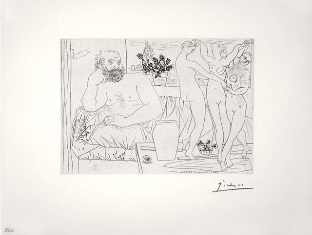 Pablo Picasso, 'Sculpteur avec un Groupe sculpté (Hommage à Carpeaux) (S.V. 81)', 1934 (March 2-Paris), John Szoke
