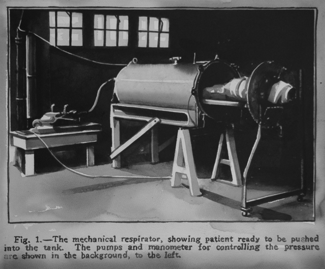 , 'The iron lung was  introduced to the world by Dr. Phillip Drinker and Dr. Charles F. McKhann on September 14, 1929.,' 2017, Christine König Galerie