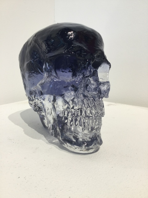 Sam Tufnell, 'Sam Tufnell, Violet Crystal Multi Layered Skull ', 2018, Sculpture, Resin, Oliver Cole Gallery