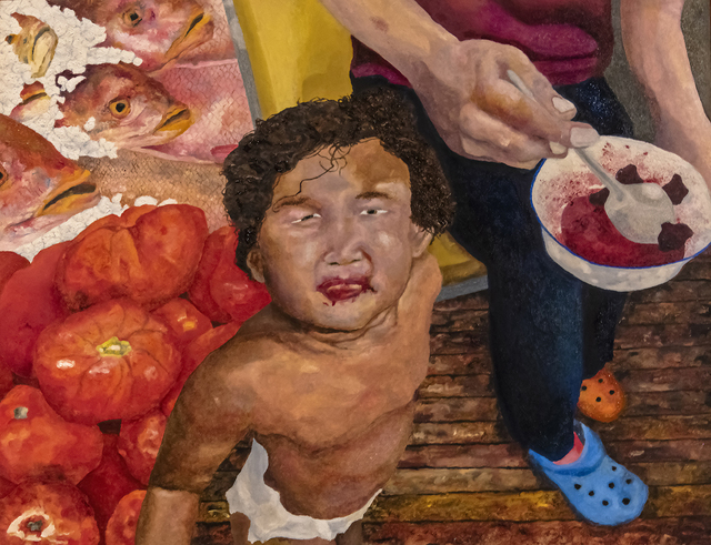 Gary Grissom, 'Yuri, A Bowl of Cherries, Fish Heads, Tomatoes', InLiquid