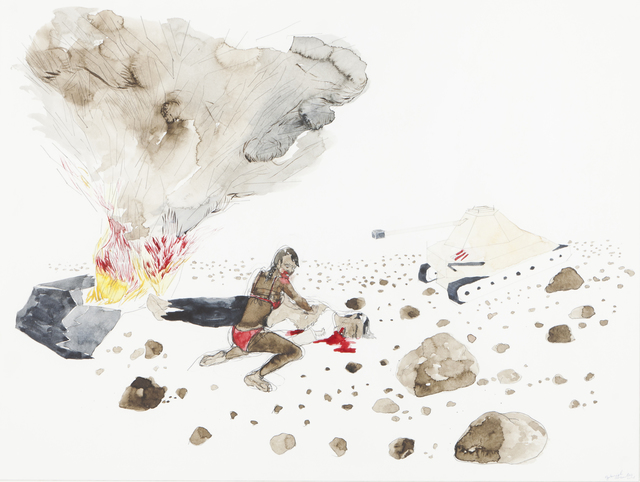 Gabriel Abrantes, 'Untitled', Drawing, Collage or other Work on Paper, Watercolor and graphite on paper, Veritas