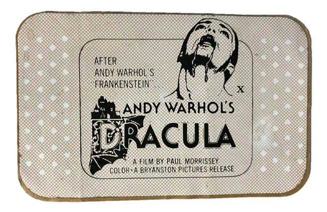 "Andy Warhol, '""Andy Warhol's DRACULA"", 1974, BANDAGE Film Promotion Giveaway, RARE', 1974, VINCE fine arts/ephemera"
