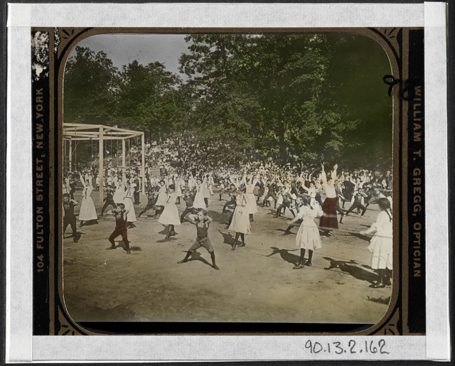 Jacob A. Riis, 'Scholastic meet in Bronx (Public School)', ca. 1897, Museum of the City of New York