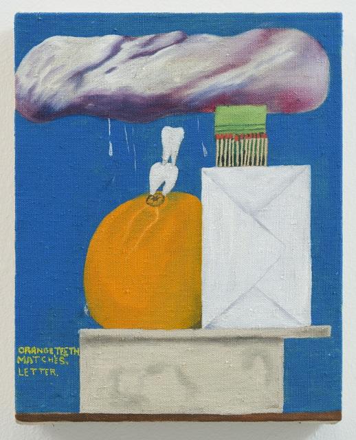 , 'Orange, Teeth, Matches, Letter,' 2018, Galerie Sébastien Bertrand