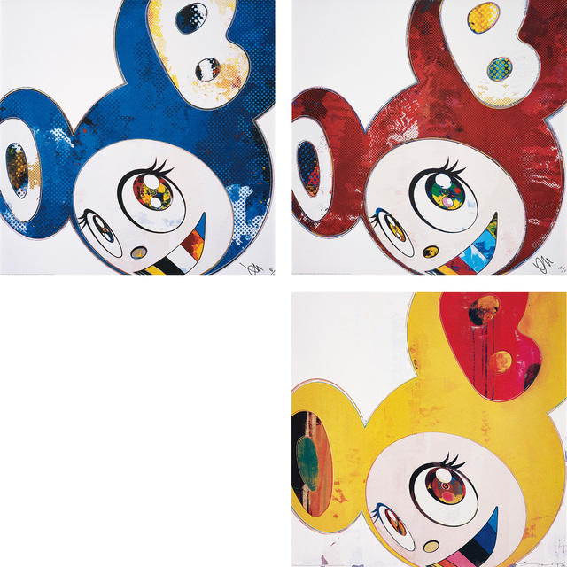 Takashi Murakami, 'And Then x 6 (Blue: The Polke Method); And Then x 6 (Red Dots: The Superflat Method); and And then, and then and then and then and then / Yellow Jelly', 2006; 2012; and 2013, Phillips