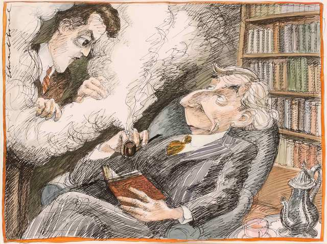 Edward Sorel, 'Bertrand Russell and Ludwig Wittgenstein', Doyle