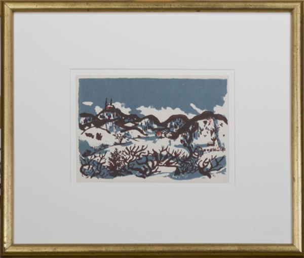, 'Skiing Near Holy Hill,' 1969, David Barnett Gallery