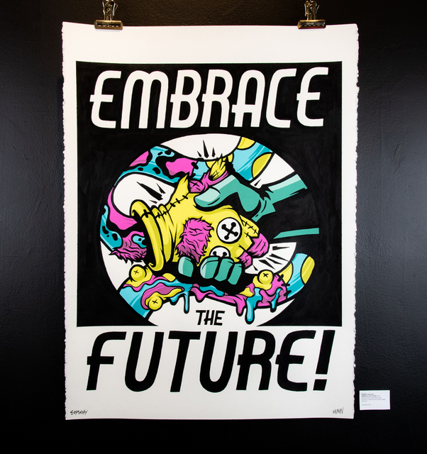 , 'EMBRACE THE FUTURE,' 2018, EWKUKS